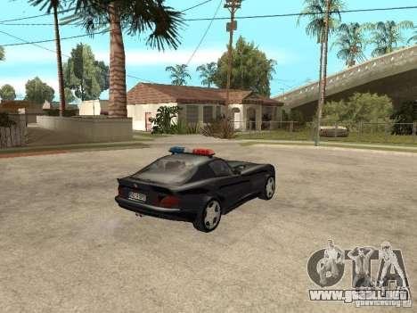 Dodge Viper Police para GTA San Andreas vista posterior izquierda
