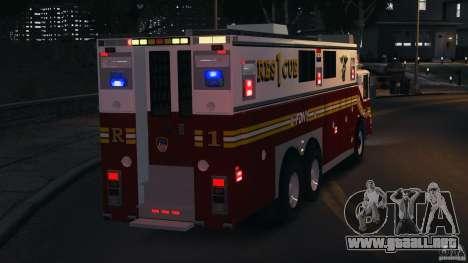 FDNY Rescue 1 [ELS] para GTA 4 vista desde abajo