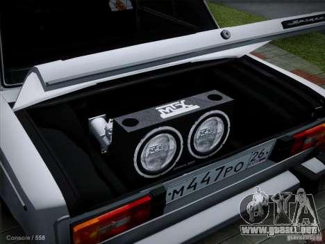 2106 VAZ Pyatigorsk v2.0 para la visión correcta GTA San Andreas