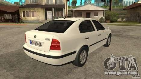 Skoda Octavia 1997 para la visión correcta GTA San Andreas