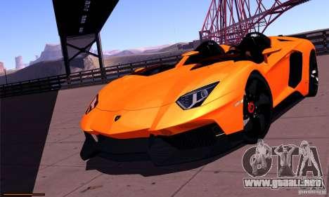 Lamborghini Aventador J para GTA San Andreas vista hacia atrás