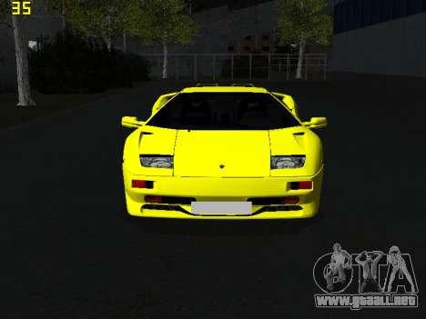 Lamborghini Diablo SV para la visión correcta GTA San Andreas