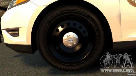 Ford Taurus 2010 CCSO Police [ELS] para GTA 4 vista interior