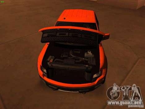 Ford F-150 SVT Raptor 2009 Final para visión interna GTA San Andreas