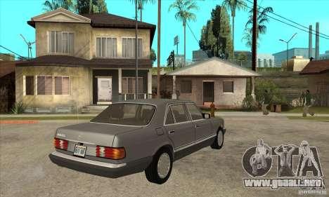 Mercedes Benz W126 560 v1.1 para la visión correcta GTA San Andreas
