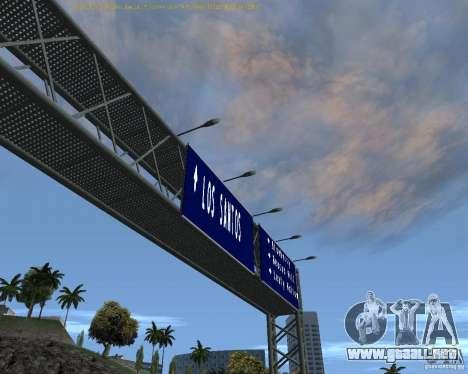 Carretera signos v1.1 para GTA San Andreas segunda pantalla