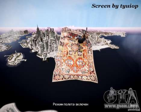 Aviones de la alfombra para GTA 4 vista interior