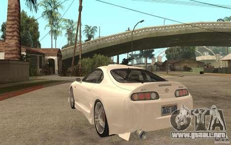 Toyota Supra Tunable para GTA San Andreas vista posterior izquierda