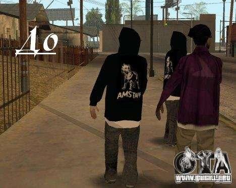 Ropa con Victor Coem para GTA San Andreas tercera pantalla
