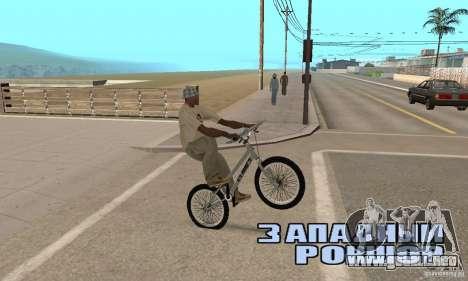 Bicicletas BMX de CS para la visión correcta GTA San Andreas