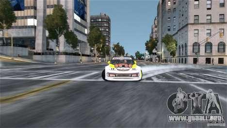 Subaru Impreza WRX STI Rallycross Monster Energy para GTA 4 vista hacia atrás