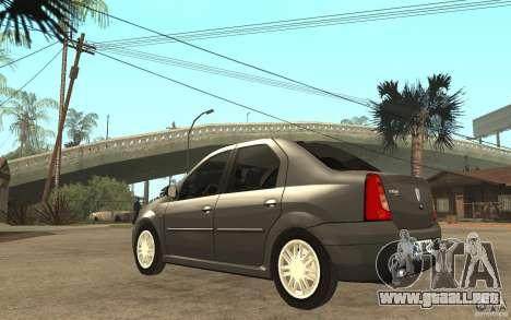Dacia Logan Prestige 1.6 16v para GTA San Andreas vista posterior izquierda
