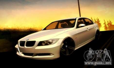 BMW 330 E90 para GTA San Andreas vista hacia atrás