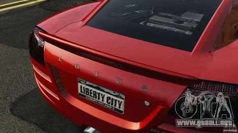 Lotus Europa S para GTA 4 vista interior