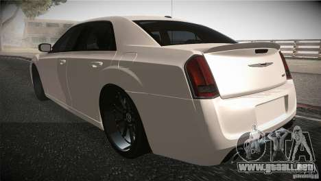Chrysler 300 SRT8 2012 para GTA San Andreas vista posterior izquierda