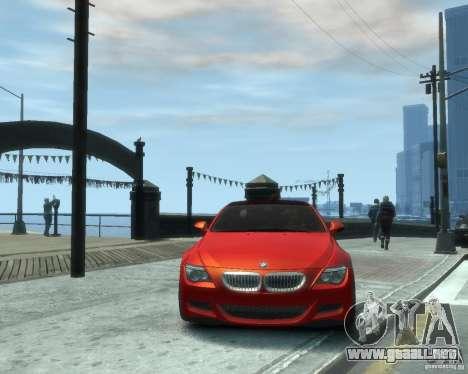 BMW M6 2010 v1.1 para GTA 4 vista hacia atrás