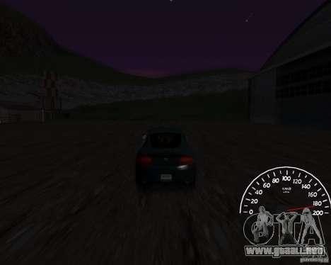 Beta velocímetro 0.5 para GTA San Andreas segunda pantalla