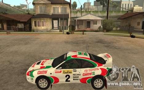 Toyota Celica GT4 DiRT para GTA San Andreas left