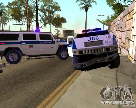 Hummer H2 DPS para la vista superior GTA San Andreas