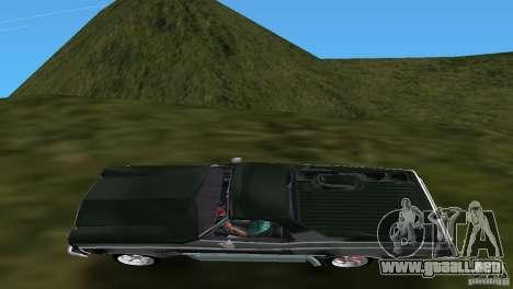 Chevrolet El Camino Idaho para GTA Vice City vista posterior