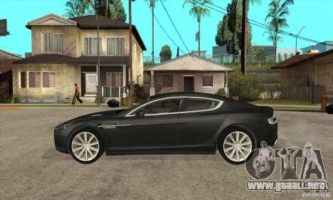 Aston Martin Rapide 2010 para GTA San Andreas left