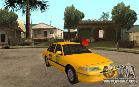 Ford Crown Victoria Taxi 1992 para GTA San Andreas vista hacia atrás