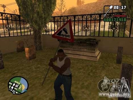 Señal de tráfico para GTA San Andreas tercera pantalla