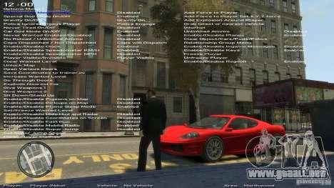 Entrenador de simple versión 6.2 para 1.0.6.0-1. para GTA 4 sexto de pantalla