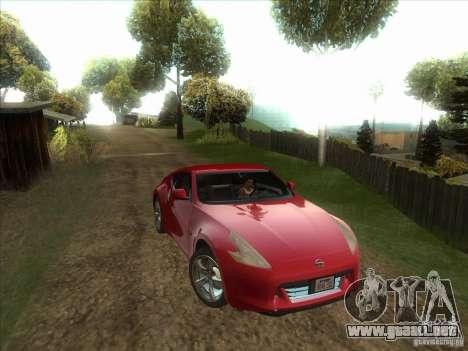 Nissan 370Z v2.0 para GTA San Andreas vista hacia atrás