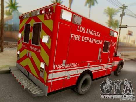Dodge Ram 1500 LAFD Paramedic para la visión correcta GTA San Andreas