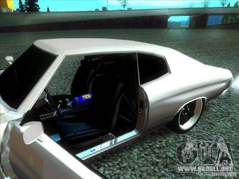 Chevrolet Chevelle SS Domenic from FnF 4 para GTA San Andreas vista posterior izquierda