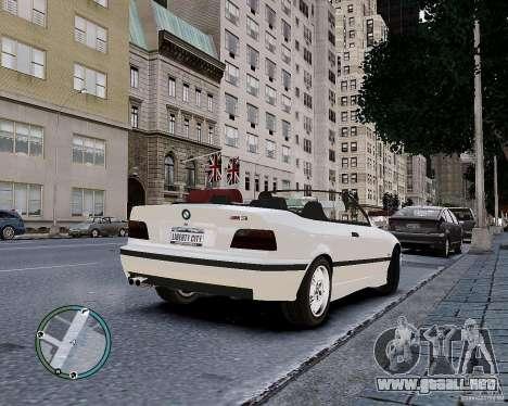 BMW M3 e36 1997 Cabriolet para GTA 4 vista interior