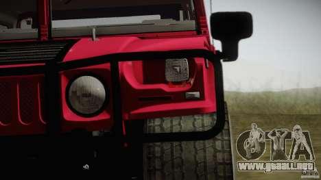 Hummer H1 Alpha Off Road Edition para GTA San Andreas vista posterior izquierda