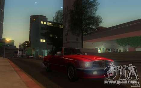 Mercedes-Benz 350 SL Roadster para GTA San Andreas vista posterior izquierda