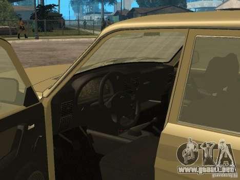 GAZ 3110 para GTA San Andreas vista hacia atrás