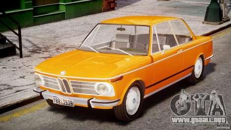 BMW 2002 1972 para GTA 4 left