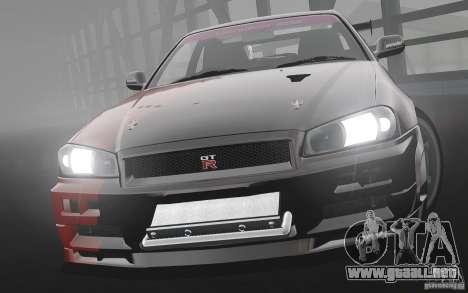Nissan Skyline R34 Evil Empire para GTA 4 left