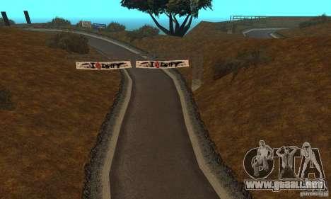 La ruta de NFS Prostreet para GTA San Andreas segunda pantalla