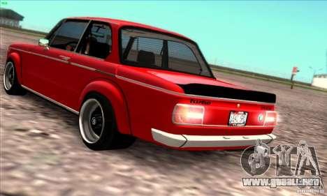 BMW 2002 Turbo para visión interna GTA San Andreas