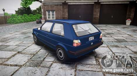 Volkswagen GOLF MK2 GTI para GTA 4 vista lateral
