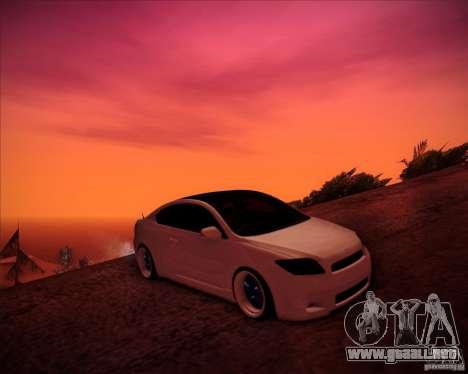 Scion tC Blue Meisters para la vista superior GTA San Andreas