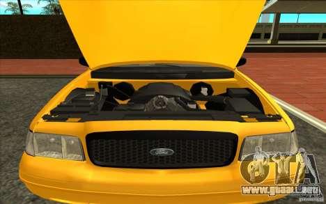 Ford Crown Victoria Taxi 2003 para GTA San Andreas vista posterior izquierda