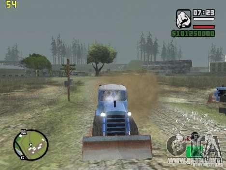 Niveladora de Kazajstán DT-75 para GTA San Andreas vista hacia atrás