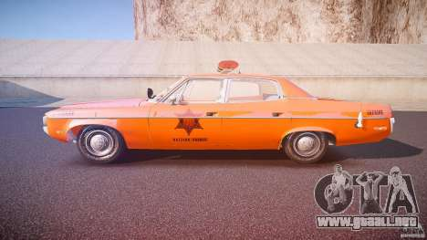 AMC Matador Hazzard County Sheriff [ELS] para GTA 4 left