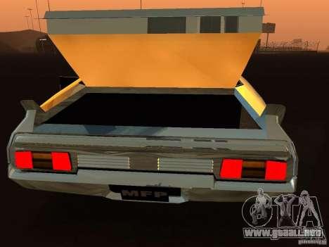 Ford Falcon XB Coupe Interceptor para GTA San Andreas vista hacia atrás