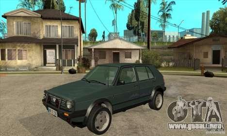 Volkswagen Golf Country MkII Syncro 4x4 1991 para GTA San Andreas