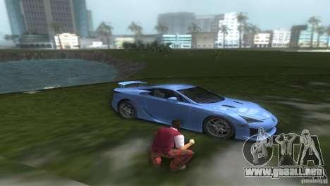 Lexus LFA para GTA Vice City visión correcta