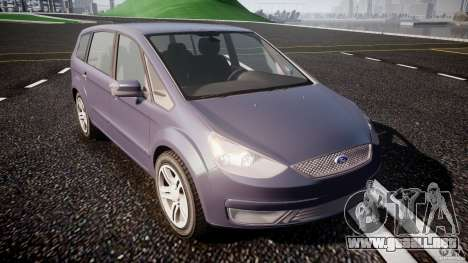 Ford Galaxy S-Max para GTA 4 vista hacia atrás