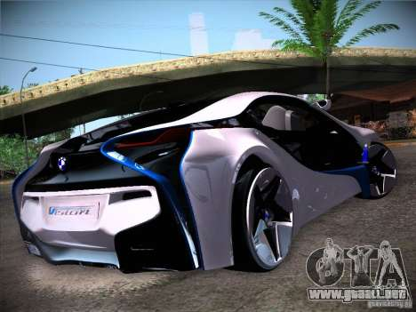 BMW Vision Efficient Dynamics I8 para GTA San Andreas vista posterior izquierda