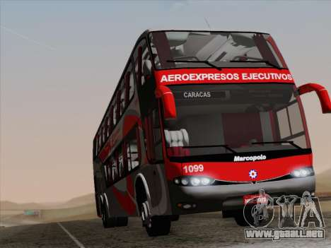 Marcopolo DD800 Volvo B12R para vista inferior GTA San Andreas